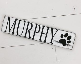 DogHouse Sign Doghouse Welcome Personalized Dog Sign Paw Print