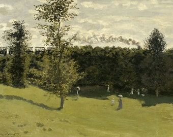 Claude Monet: Train in the Countryside. Fine Art Print/Poster. (004074)