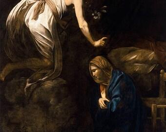 Caravaggio: The Annunciation. Fine Art Print/Poster.