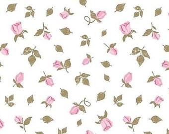 "Dainty Pink Rose / Rosebud Tissue Paper #355 ...10 large sheets - 20"" x 30"""