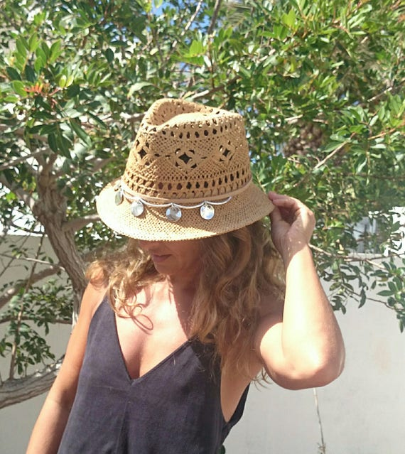 ddfd28c2239 beach hat fedora straw sun hats for women summer womens store ladies cool