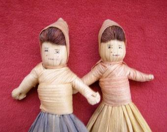 Vintage Cornhusk Dolls - Adorable!