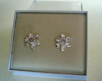 Daffodil Sterling Silver Or 9ct Gold Studs
