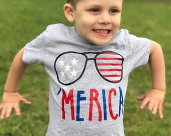 Toddler Boy 4th of July Outfit - America T-shirt - Patriotic T-shirt - Summer Shirts - Boys Fourth of July Shirt - Kids T-shirts