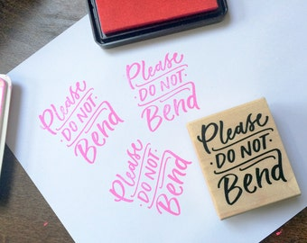 Please Do Not Bend Stamp - Extras by Alaina
