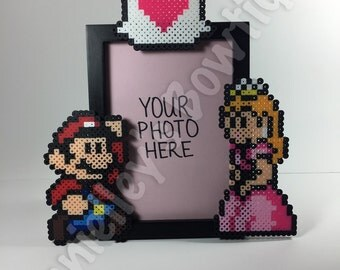 Mario and Princess Peach Picture Frame