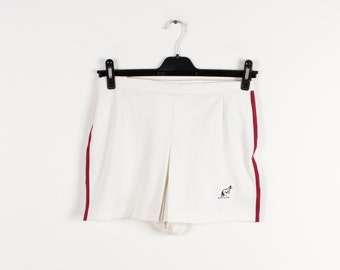 Vintage Women's Tennis Shorts White Running Sport Shorts Retro 80s Sportswear