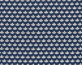 cotton jersey fabric love boat 0,5 meter