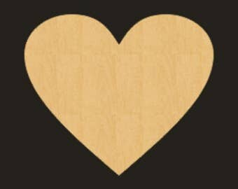 Unfinished Wood HEART Cutout - BS001