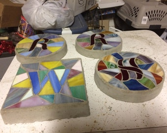 """Mosaic Initial-8"""" round or square"""