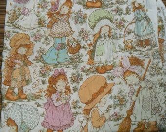 Rare Original Vintage Hollie Hobbie Cotton Fabric