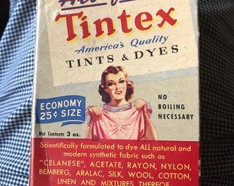 Vintage Tintex Dye Brilliant Yellow