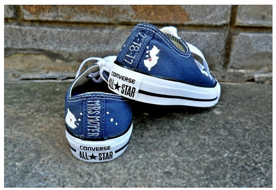 Converse Wedding Shoes | Custom Wedding Shoes Brides Home State Converse Wedding Well