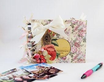Sweet Scrapbook Album, Photo Album, Memory Book, Premade Scrapbook, Wedding Album, Gift Idea, Paper Anniversary, Mini Album, Keepsake