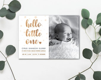 Hello Little One Baby Announcement Card
