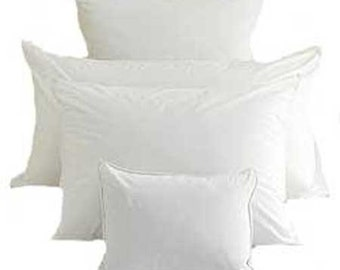 down feather pillow and rectangle sizes available