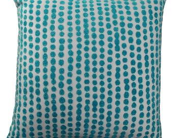 outdoor pillow polka dot sunbrella aruba turquoise fabric circle print patio furniture cushion outdoor throw pillow