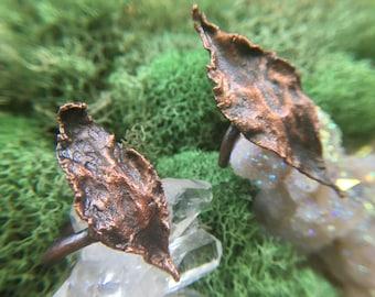 Zephyr Copper Plated Leaf Ring 5