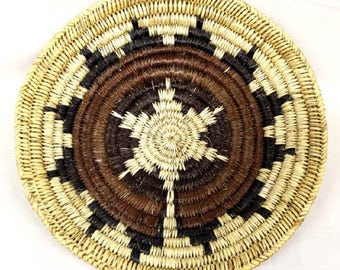 Vintage Native American Navajo Wedding Basket 12 Inches 12 Points Authentic