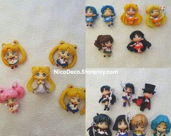 Sailor Moon Figures for custom decoden cases