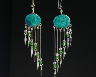 boho earrings dangle earrings gift for her tribal earrings boho jewelry bohemian earrings ethnic earrings earrings hippie earrings boho chic