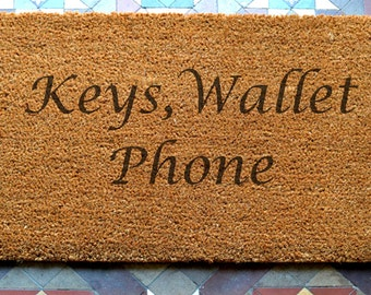 door mat engraved coir door mat Size: 400 x 600 mm   UK Based