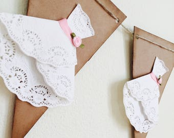 Wedding First Communion Shower Banner Party Shabby Chic