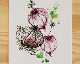 POST card • series So Lovely #6 illustration • • paper 300 g
