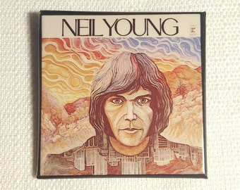 Vintage Mid to Late 70s Neil Young Self-titled Debut Album (1968) Pin / Button / Badge