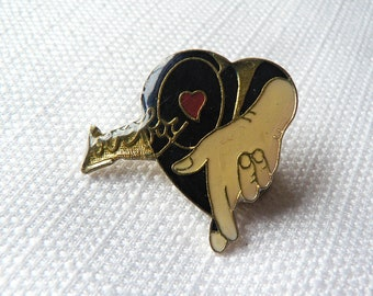 Vintage Early 80s Loverboy - Get Lucky Album (1981) Enamel Pin / Button / Badge