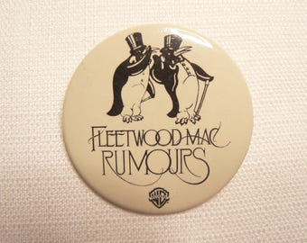 BIG Vintage Late 70s Fleetwood Mac - Rumours Album (1977) Penguins - Promotional  Pin / Button / Badge