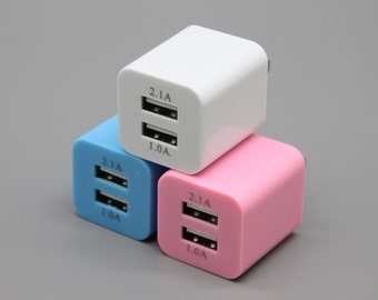 Fixture Displays Double-usb Port usb AC/DC Power Adapter Wall Charger iPhone Android 15931-3PK