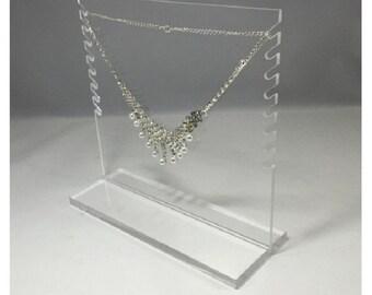 Fixture Displays® FixtureDisplays® Clear Acrylic Plexiglass Necklace Jewelry Stand Countertop Display 11620-4C