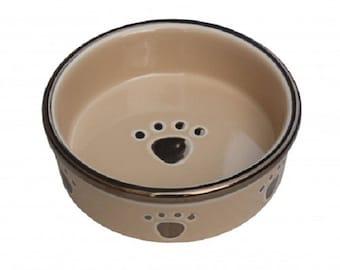 Fixture Displays® Ceramic Dog Cat Feeding Bowl Food Water Bowl 12217