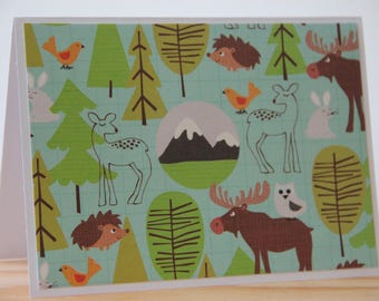6 Alaska Note Cards.  Woodland Animal Note Cards. Forest Animal Card Set.  Deer Note Cards. Moose Note Cards. Mountain Cards
