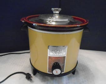 Vintage Sears Crock Watcher. Crock Pot.  Sears Crock pot. Sears Slow cooker. Slow cooker.