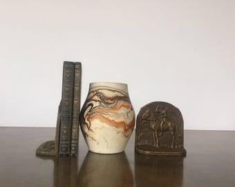 Nemadji Orange Swirl Pottery
