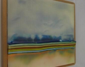 Encaustic Painting Stratum 176