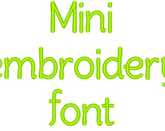 Small little MINI embroidery Font machine embroidery alphabet, boys monogram, name embroidery - caps, letters and numbers INSTANT DOWNLOAD
