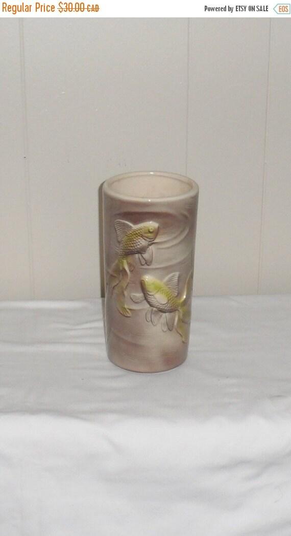 1950s royal copley koi fish table vase vintage table by for Koi fish vase
