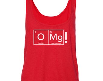 O MG! Women's Boxy Tank Top Tees
