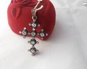 Einzigartige Vintage 9k gold Diamant Kreuz - Anhänger - Weihnachts-Geschenk - Geburtstagsgeschenk - Geschenk für sie