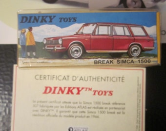 Rare French Vintage IN Its Box Replica Dinky Toys BREAK SIMCA 1500 die-cast car model toy Collectibles toys Vintage car voiture automobile
