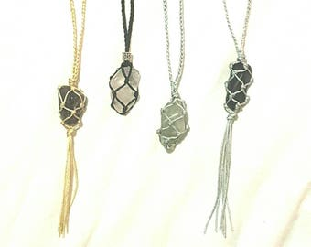 Crystal Net Necklaces
