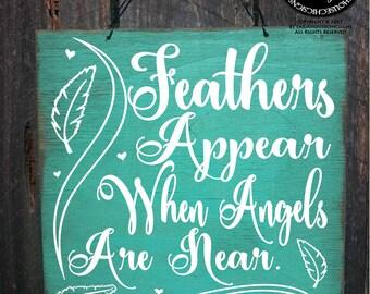 condolences, sympathy gift, condolence sign, memorial gift, memorial art, memorial sign, sympathy, feather art, feathers, heaven