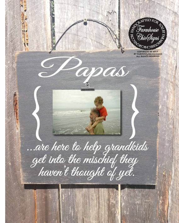 Father's Day gift, papa sign, papa frame, papa gift, papa picture frame, gift for papa, Christmas gift for papa, papa Christmas gift, 285