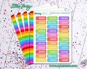 Shopping Carts Quarter Boxes Planner Stickers by Lillie Henry! Bright, fun, and functional stickers perfect for planning your life!