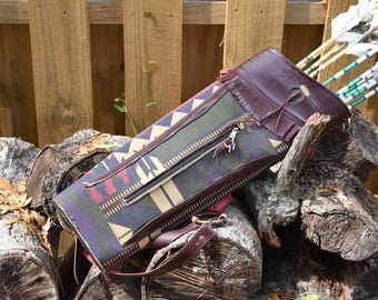 """Custom Listing for Melissa, Archery quiver, Vintage Neet """"Traditions"""",southwest style back quiver"""
