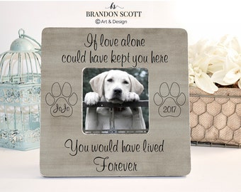 Pet Sympathy Gift, Pet Loss Memorial, Dog Cat Personalized Picture Frame, Dog Loss Memorial Frame, Sympathy Gift