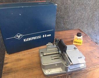 Vintage Klebepresse Agfa film splicer original box